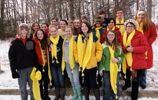 Each January members of Youth for Life travel to Washington to witness in the March for Life.