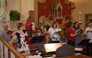 St. Francis Choir sings at Sunday Mass
