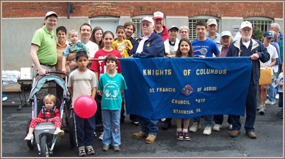 The St. Francis Knights of Columbus lead a contingent of parishioners to the March for Life each year in January.