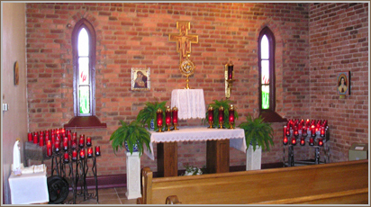 The adoration chapel offers an opportunity to spend time in prayer before the Blessed Sacrament.